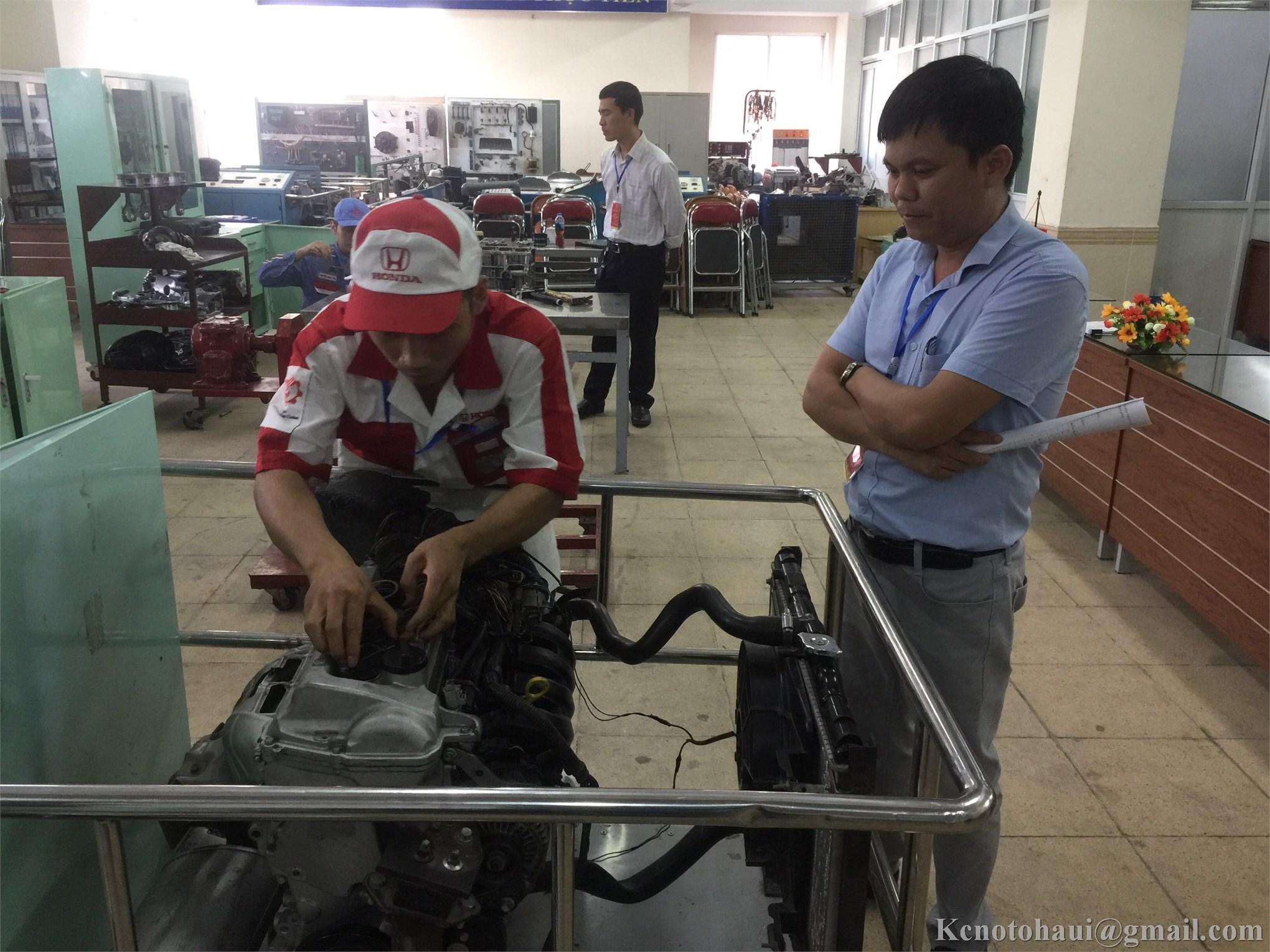 Hội thi Thợ giỏi thành phố Hà Nội năm 2019 nghề Công nghệ ô tô