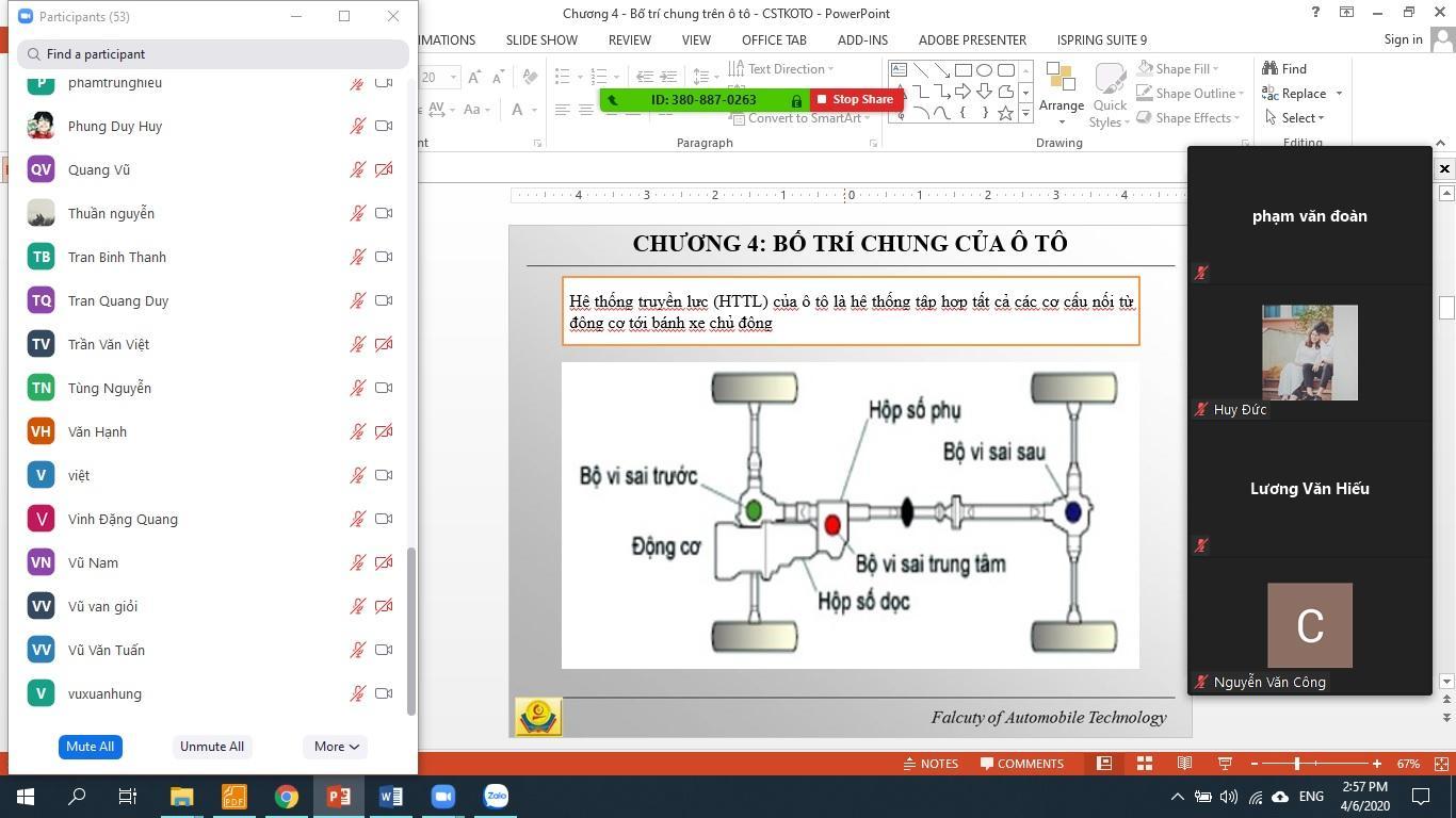 Khoa công nghệ ôtô triển khai, chủ động, sáng tạo trong giảng dạy trực tuyến