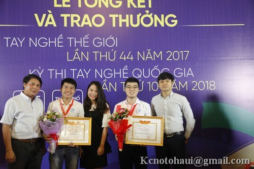 Sinh viên khoa công nghệ ô tô xuất sắc đạt 01 giải Nhất, 01 giải 3 Hội thi Tay nghề Quốc gia năm 2018